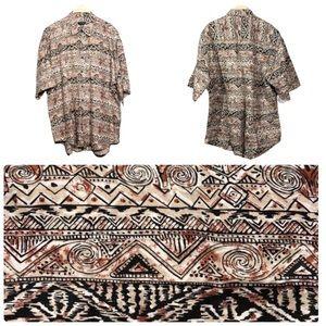 Guess Classic men linen camp shirt Retro Casual xl